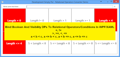 Bind Boolean And Visibility DPs To Relational Operators/Conditions In WPF/XAML