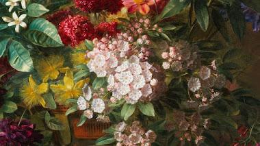 Flores en un jarrón griego: alegoría de la primavera