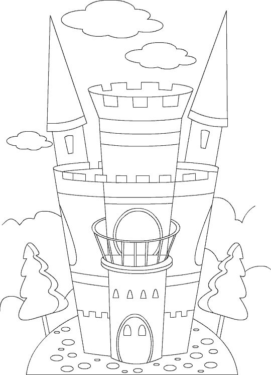 Tranh cho bé tô màu lâu đài 17