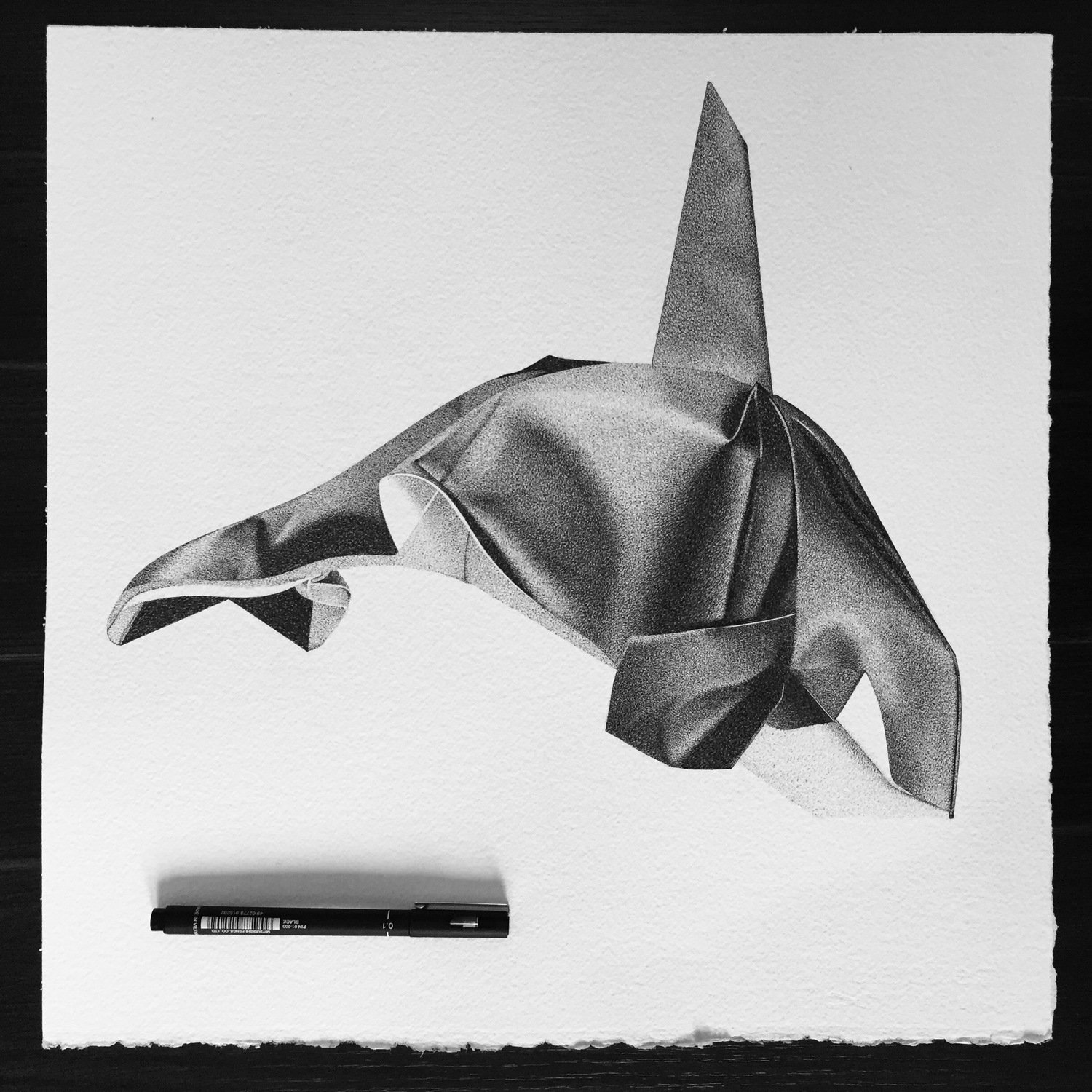 15-Killer-Whale-Origami-Alessandro-Paglia-Photo-Like-Black-and-White-Drawings-www-designstack-co