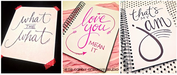 hand lettered art, what the what, love you mean it, that's my jam, hand lettering