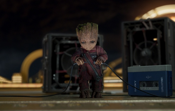 cinescape magazine, dancing baby groot, chris pratt, james gunn, michael rooker, movie review, kurt russell