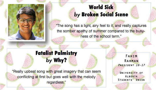 World Sick by Broken Social Scene and Fatalist Palmistry by Why? - Summer Song Picks