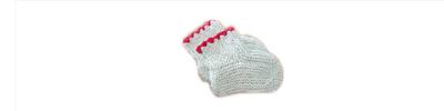 Babysokk fra den store sokkeboka
