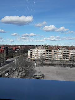 Utsikt mot Vaksala torg i Uppsala