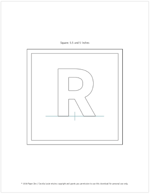 Quilling Letter R Template