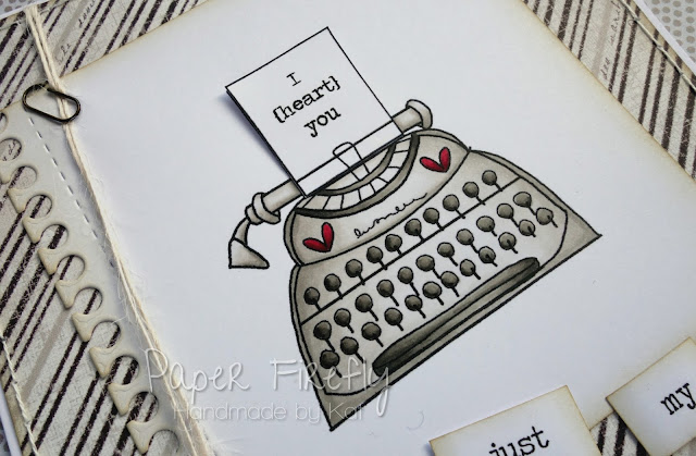 Handmade fun typewriter card