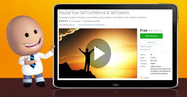 [100% Off] Double Your Self Confidence & Self Esteem| Worth 200$