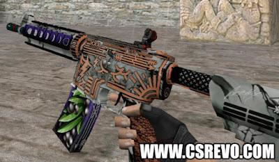 Skin M4A4 - Rage Of Gods - HD CS 1.6, m4a1, m4a4