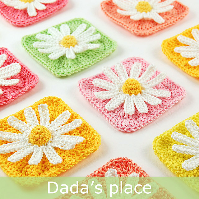 Daisy granny square by Dada's Place