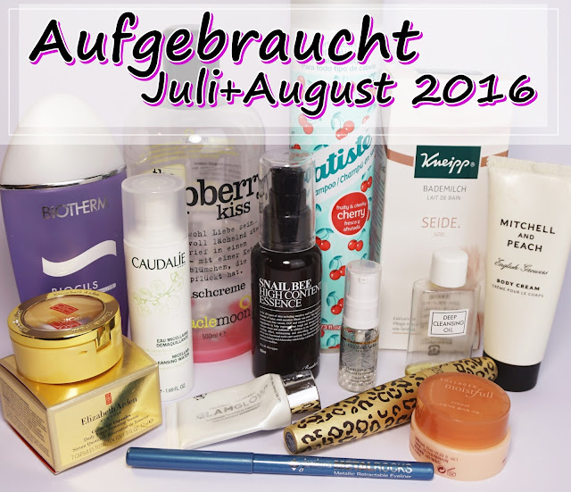 Aufgebrauchte Kosmetik (Juli + August 2016) Biotherm, Caudalie, Batiste, Elizabeth Arden, Benton, DHC