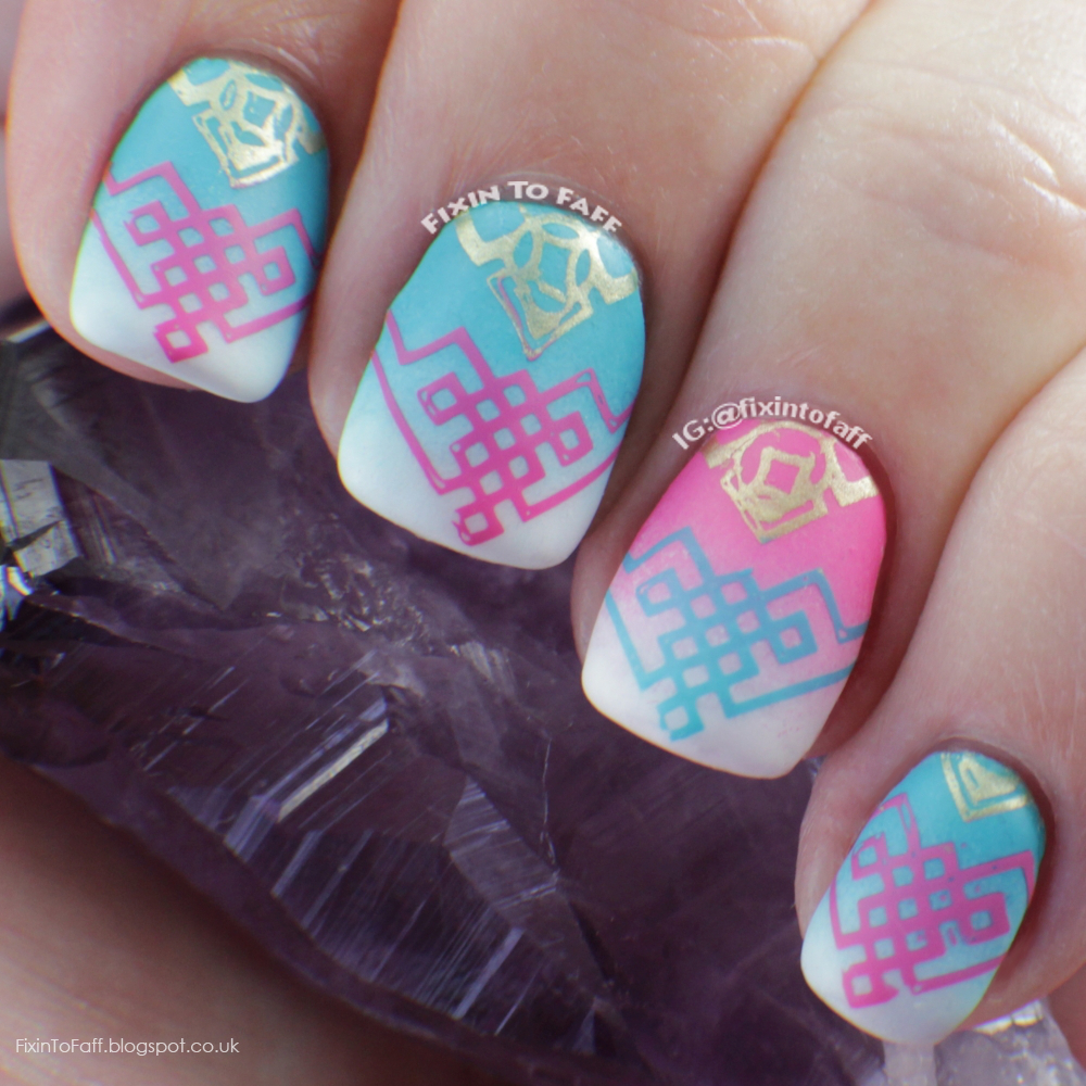 Aqua Nail Art: Fixin To Faff