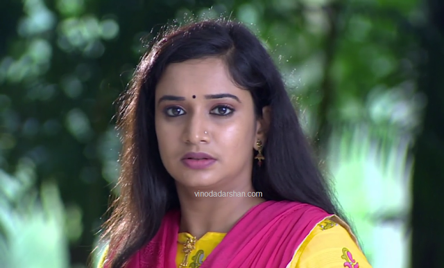 Actress Gowri as Krishnedhu in Kana Kanmni Serial on Asianet