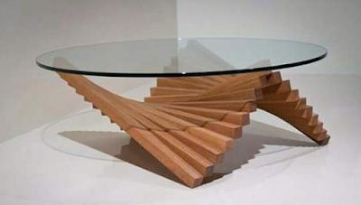 kumpulan gambar meja unik dari kayu