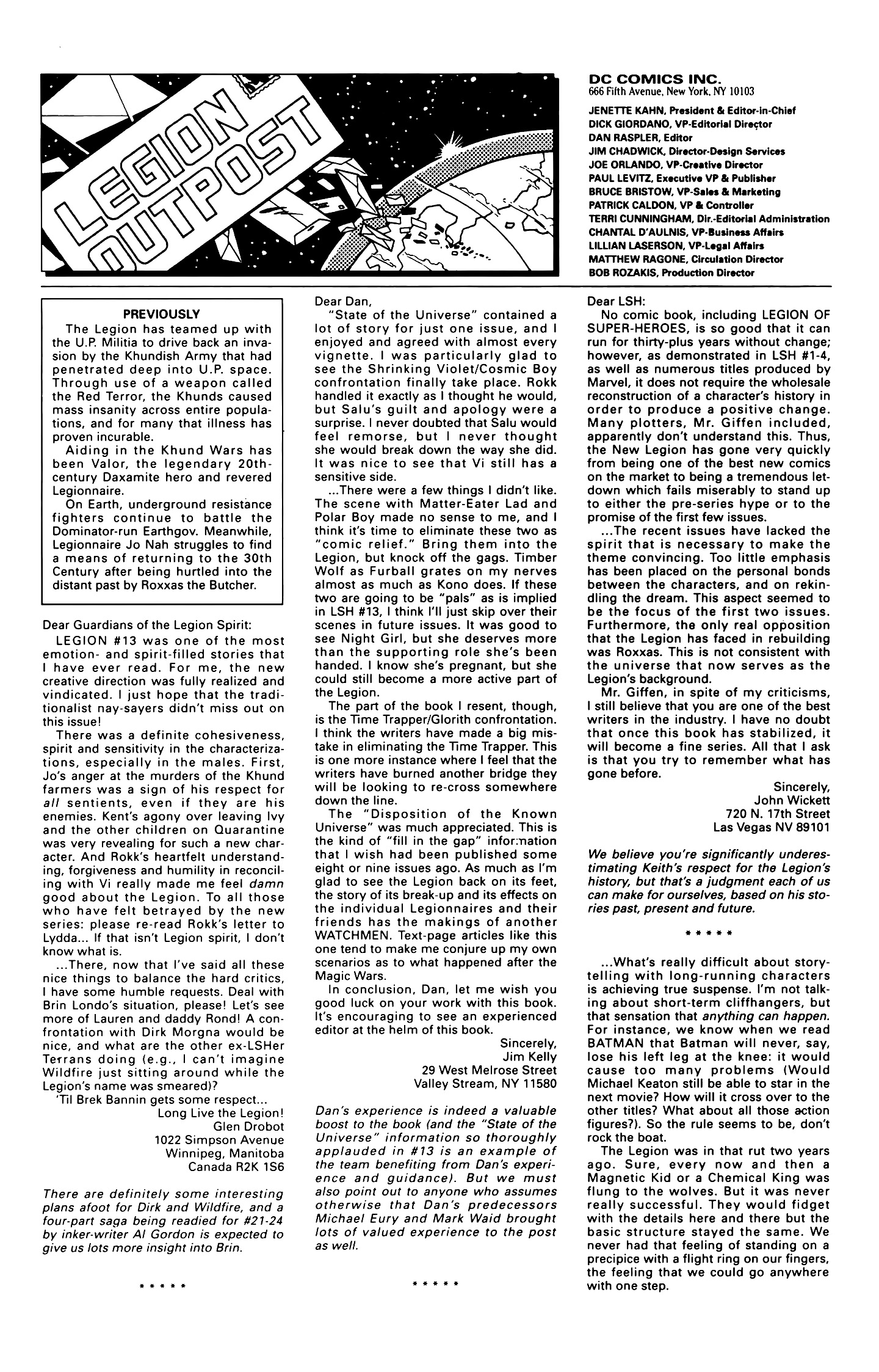 Legion of Super-Heroes (1989) 18 Page 26