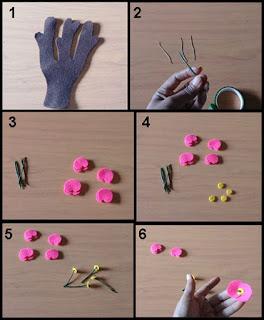 Tutorial Cara Membuat Bunga Euphorbia dari Kain Flanel 1