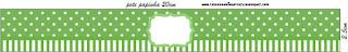 Verde con Lunares Blancos: Etiquetas para Candy Bar para Fiestas de 15 años para Imprimir Gratis.