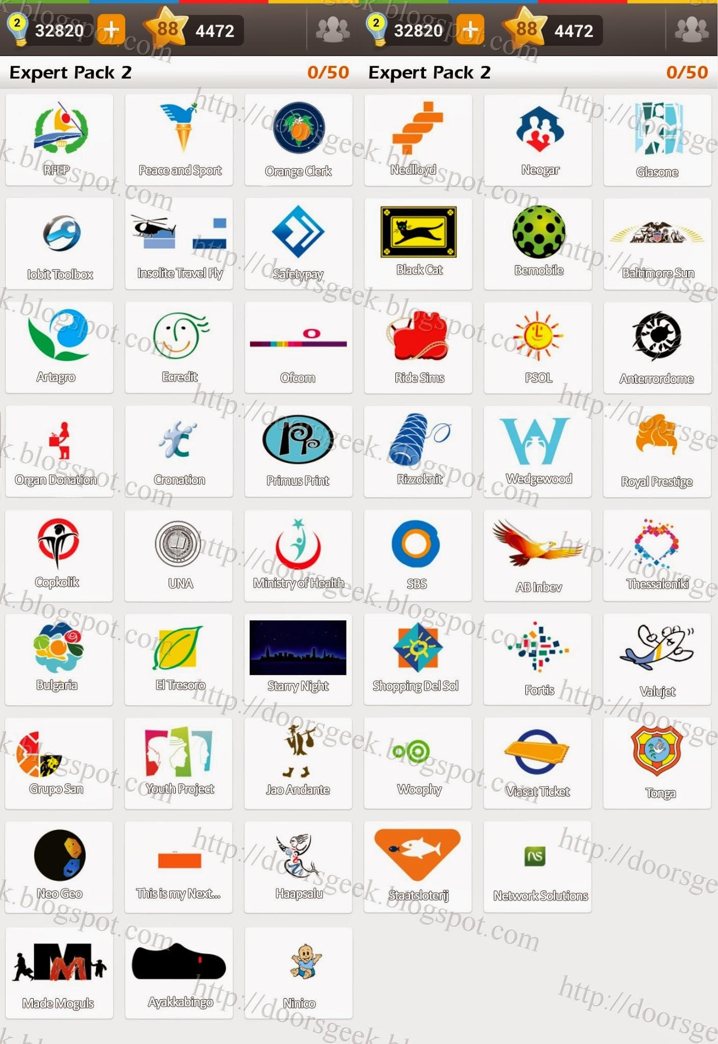 Logo game guess the brand expert pack 2 doors geek for Solution wordbrain cuisine