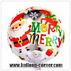 Balon Foil Bulat MERRY CHRISTMAS