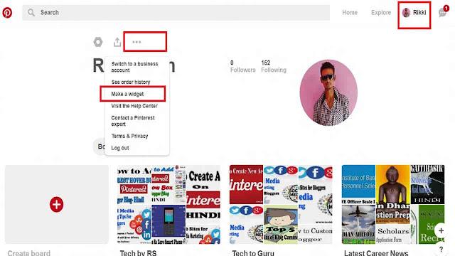 Pinterest Follow Box