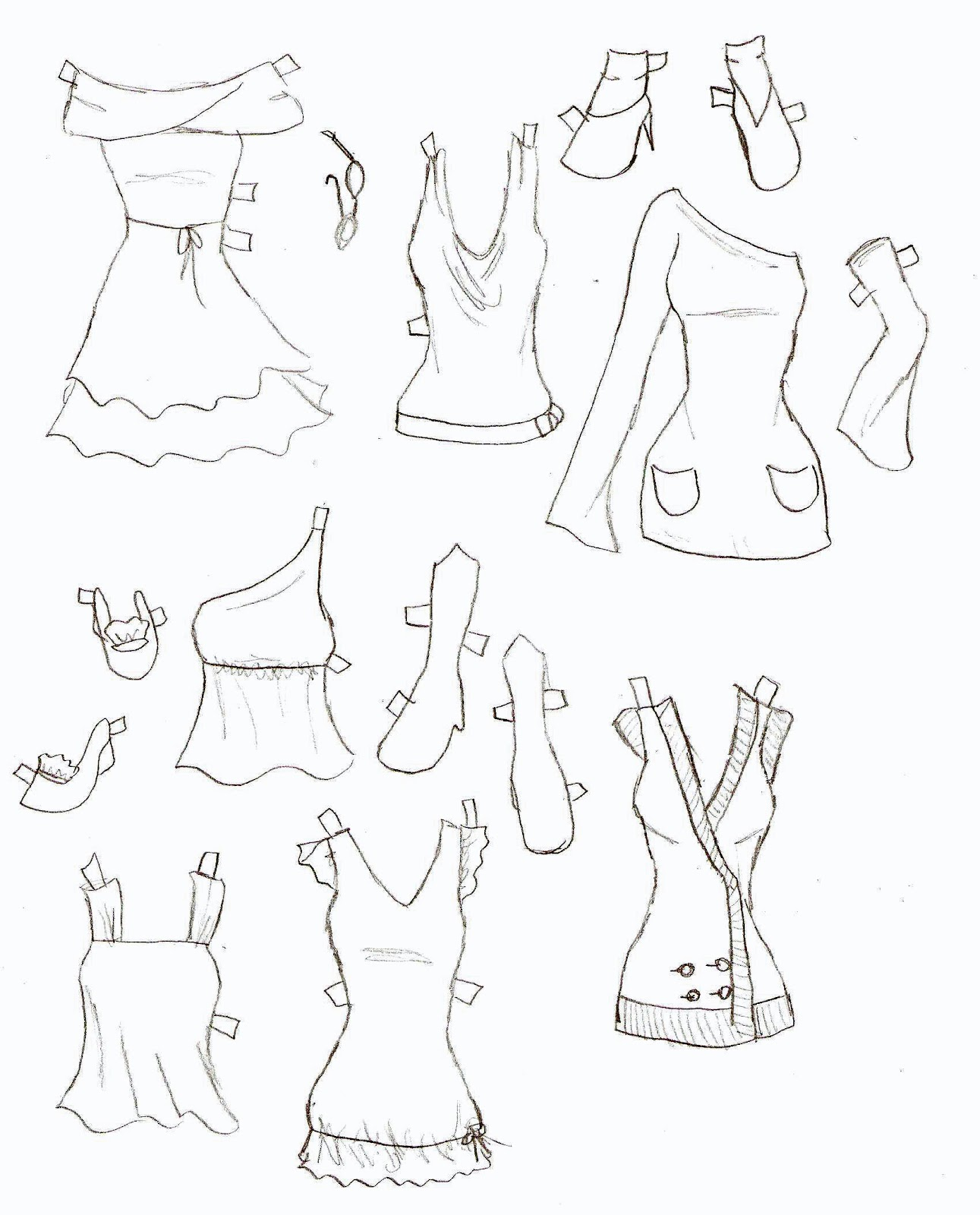 Miss Missy Paper Dolls Lucy Clothes 9