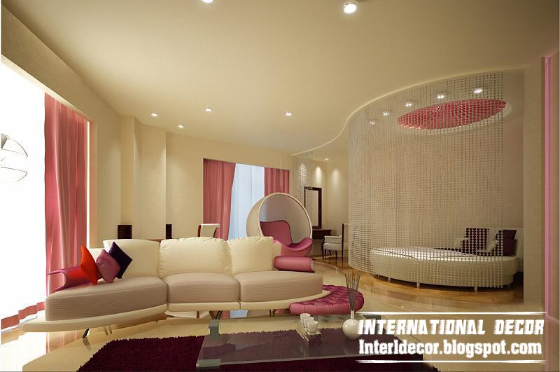 Contemporary Bedroom Design Ideas With Beaded Curtain And Modern Furniture