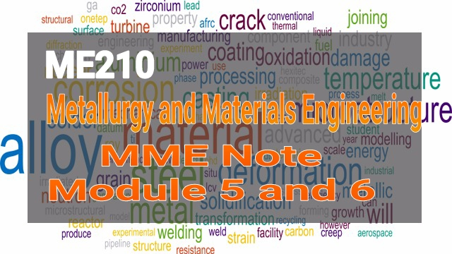 KTU ME210 Metallurgy and Materials Engineering MME Notes