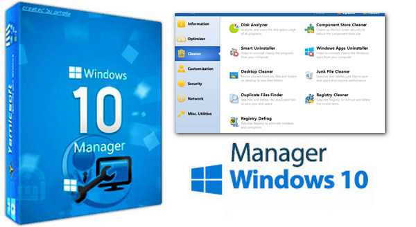 Yamicsoft Windows 10 Manager 2.1.2 Portable - Giải pháp quản lí Windows 10