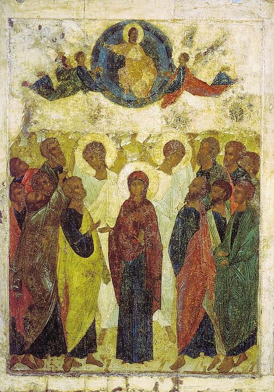 Ascensão - Andrei Rublev e suas pinturas ~ Bizantino