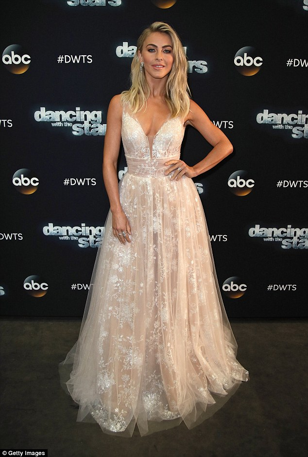Elegant Julianne Hough takes the plunge in princess gown at the season premiere of Dancing With The Stars