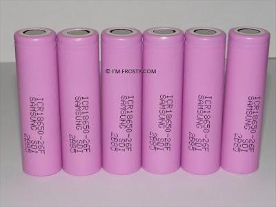 geniune samsung 18650 battery pink