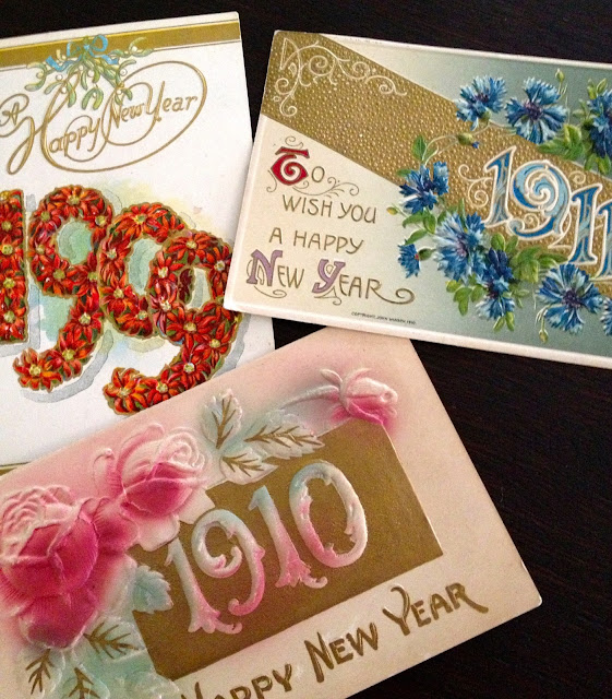 Vintage New Year's Eve Cards