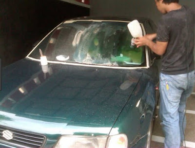 pembersih jamur kaca mobil