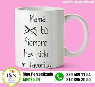 pocillos perosnalizados en Medellin dia de la madre
