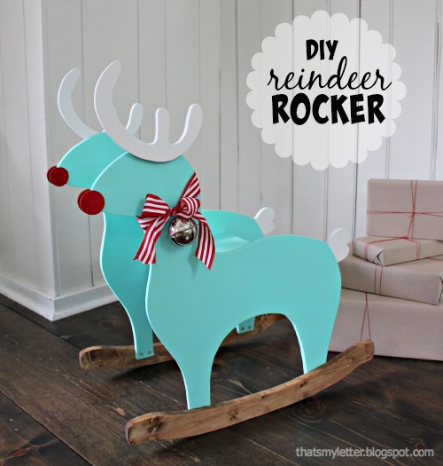 diy kids reindeer rocker