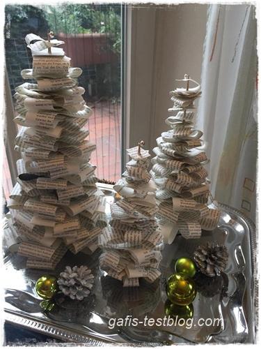 Basteltipp- schöne Papiertannenbäume