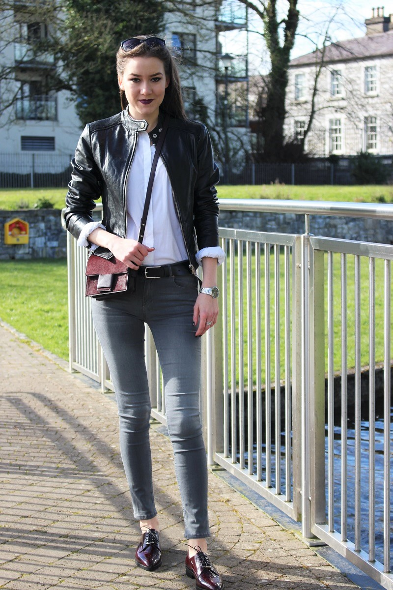 oxford shoes and jeans