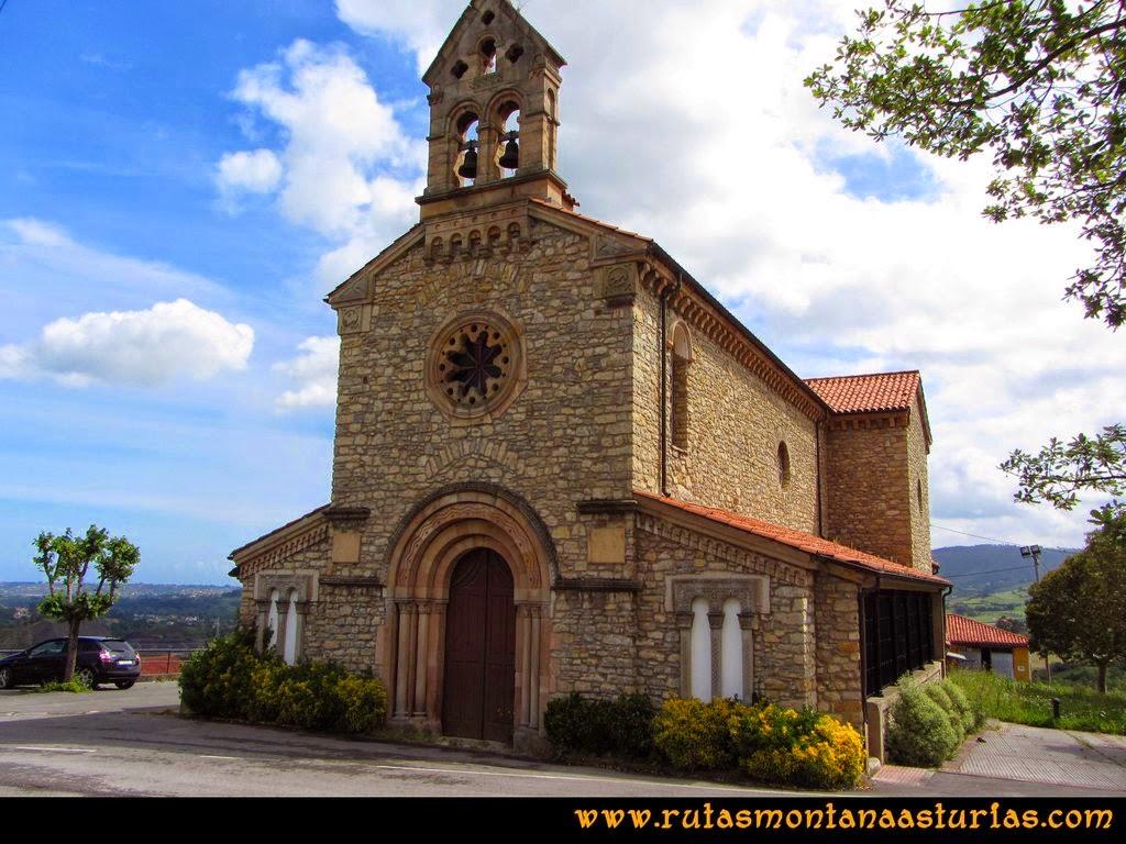 Senda Verde Camocha - Pico Sol - Piles: Iglesia de Huerces