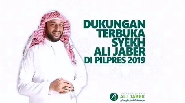 Dukungan Terbuka Syekh Ali Jaber Untuk Prabowo-Sandi di Pilpres 2019