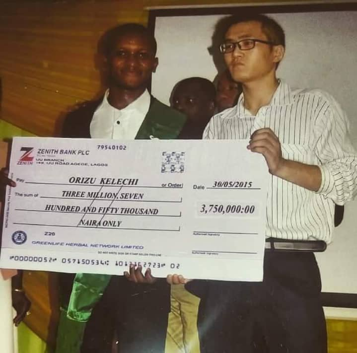 Cash Award of ₦3,750,000