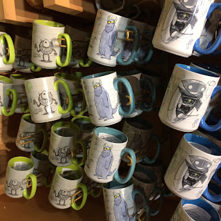 sulley concept art of mug disney store
