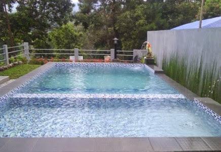 Sewa Villa 0066 di puncak ada kolam renang, pemandangan pegunungan