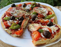 bazlama ile pizza