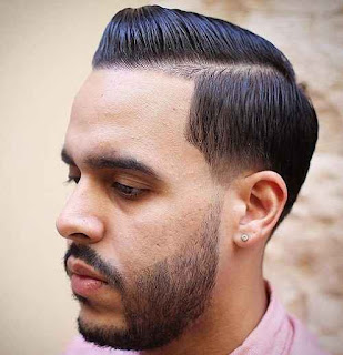 Men sleek Hairstyle with Side Part