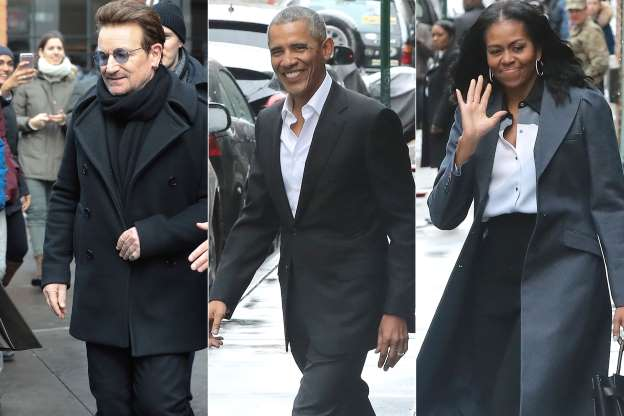 Bono and the Obamas Brunch in the Big Apple — And Get a Standing Ovation