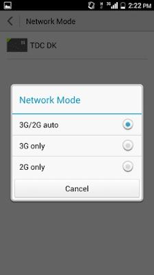 memilih jaringan untuk internet