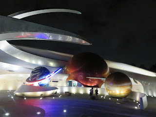 Mission Space Epcot night facade