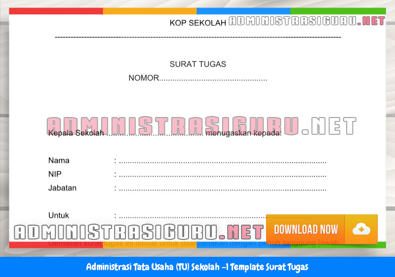 Contoh Format Surat Tugas Administrasi Tata Usaha Sekolah Terbaru Tahun 2015-2016.docx