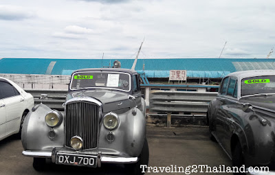 Cars going to China at Chiang Seang in North Thailand
