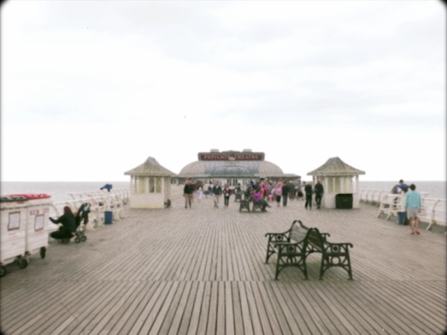 CiCi Marie vintage seaside wedding video screenshot - Cromer Pier